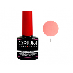 БАЗОВОЕ ПОКРЫТИЕ FRENCH BASE COLOR 1 OPIUM NANO NAILS 8мл.