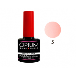 БАЗОВОЕ ПОКРЫТИЕ FRENCH BASE COLOR 5 OPIUM NANO NAILS 8мл.