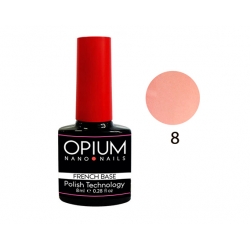 БАЗОВОЕ ПОКРЫТИЕ FRENCH BASE COLOR 8 OPIUM NANO NAILS 8мл.
